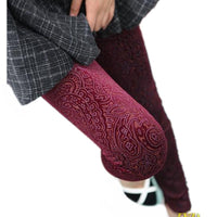 Extravagance Burn Out Velvet Leggings - Go Steampunk