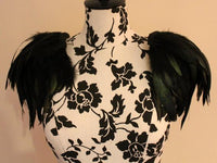 Rooster feather shoulder epaulette - Go Steampunk