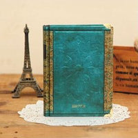 Vintage Hardcover Notebook Dairy Journal Green / Small - Go Steampunk