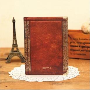 Vintage Hardcover Notebook Dairy Journal Brown / Small - Go Steampunk