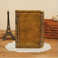 Vintage Hardcover Notebook Dairy Journal Golden / Small - Go Steampunk