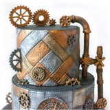 Riveted Metal Plate Silicone Fondant Mold - Go Steampunk