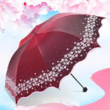 Paradise Full Color Umbrella Red - Go Steampunk