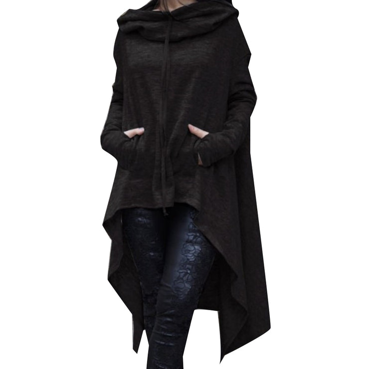 Long Pullover Plus Size Hoodie Black / 4XL - Go Steampunk