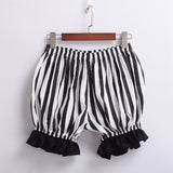 Vintage Striped Pumpkin Shorts - Go Steampunk