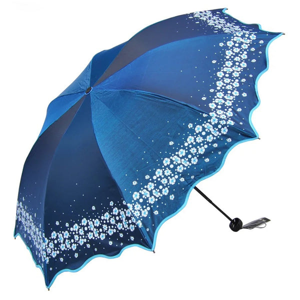 Paradise Full Color Umbrella Blue - Go Steampunk