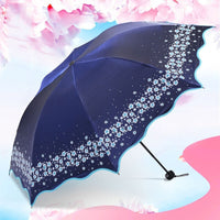 Paradise Full Color Umbrella Navy Blue - Go Steampunk