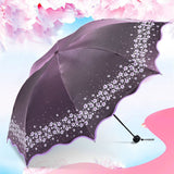 Paradise Full Color Umbrella Purple - Go Steampunk