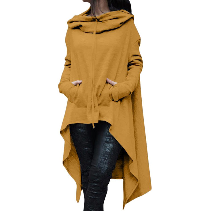 Long Pullover Plus Size Hoodie Yellow / 4XL - Go Steampunk