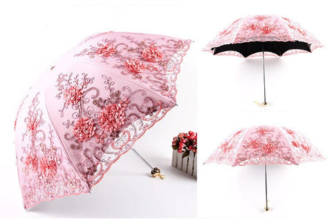 Elegant Embroidered Lace Umbrella as picture-10 - Go Steampunk