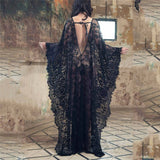 Lace Chiffon Long Dress Cover Up - Go Steampunk