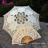 Western Style Beautiful Double-Layer Lace Parasol A0105 beige kids - Go Steampunk