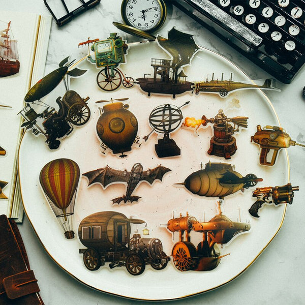 40pcs Vintage Vellum Stickers Default Title - Go Steampunk
