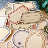 30pcs Vintage Kraft Paper Label Stickers - Go Steampunk