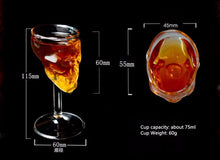 Load image into Gallery viewer, Double Wall Doomed Crystal Skull Shot Glass - Go Steampunk
