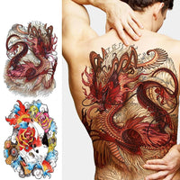 Full back, chest, or body temporary tattoo - Go Steampunk