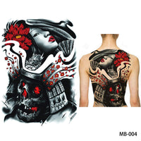 Full back, chest, or body temporary tattoo MB 004 - Go Steampunk