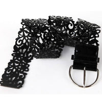 Hollow Fillagree PU Leather Belt - Go Steampunk