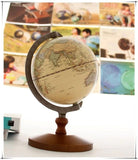 English Edition Wooden Pedestal Vintage Style Decorative World Globe