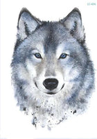 Wolf In Trees Temporary Tattoo LC-606 - Go Steampunk