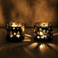Xms Shillouette Tealight Candlestick - Go Steampunk