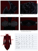 Steampunk Men Winter Coat in Black and Red - Go Steampunk