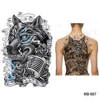 Full back, chest, or body temporary tattoo MB 007 - Go Steampunk