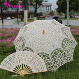 Western Style Beautiful Double-Layer Lace Parasol A0138 beige - Go Steampunk