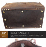 High Quality Cowhide Leather Vintage Travel Tote