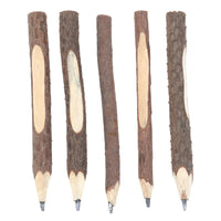 5 Pack Wooden Branch Pencils - Go Steampunk