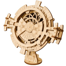 Load image into Gallery viewer, Wooden Gear Driven Pendulum Clock Model Kit - Go Steampunk