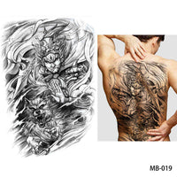 Full back, chest, or body temporary tattoo MB 019 - Go Steampunk