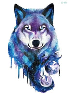 Wolf In Trees Temporary Tattoo LC-601 - Go Steampunk