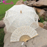 Western Style Beautiful Double-Layer Lace Parasol A0102 beige - Go Steampunk