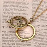 Various Bronze Magnifying Glass Necklaces