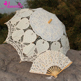 Western Style Beautiful Double-Layer Lace Parasol A0129 beige - Go Steampunk