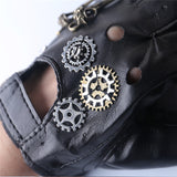Steampunk Gear PU Unisex Gloves - Go Steampunk