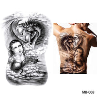 Full back, chest, or body temporary tattoo MB 008 - Go Steampunk