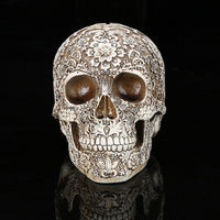 Stylish Floral Skull Default Title - Go Steampunk