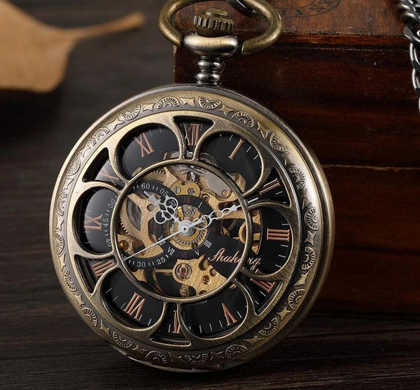 Double-sided Clock Tower Pocket Watch - Go Steampunk