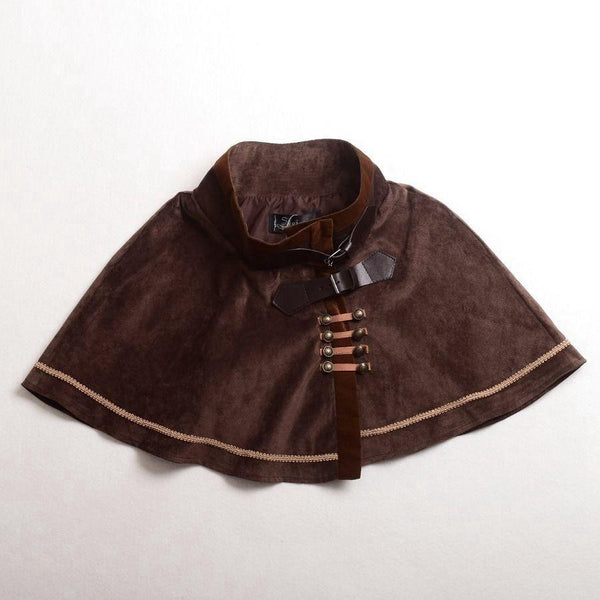 Victorian Steampunk Mini Cape /Short Cloak/Capelet - Go Steampunk