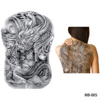 Full back, chest, or body temporary tattoo MB 005 - Go Steampunk