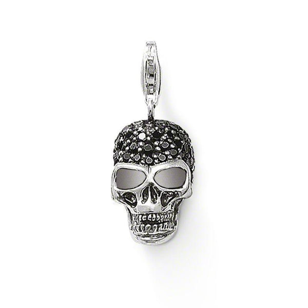 Skull Pendant With Zirconia .925 Sterling Silver - Go Steampunk