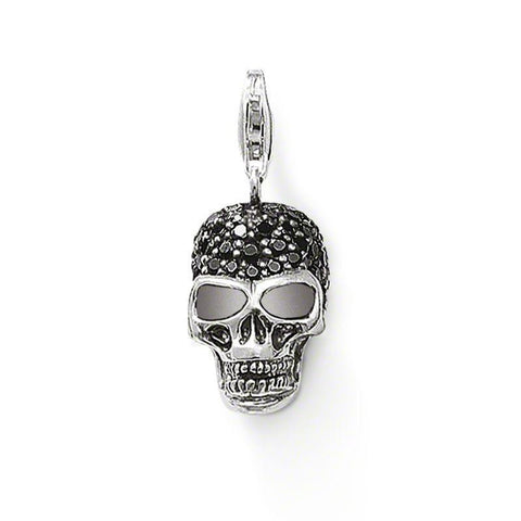 Skull Pendant With Zirconia .925 Sterling Silver