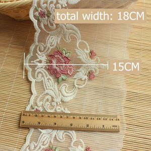 1.5 meters Colored Flower Lace 18cm-red / 1.5 meters price - Go Steampunk