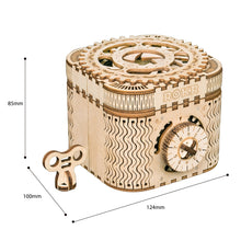 Load image into Gallery viewer, Creative DIY Wooden 3D Locking Treasure Box - Go Steampunk