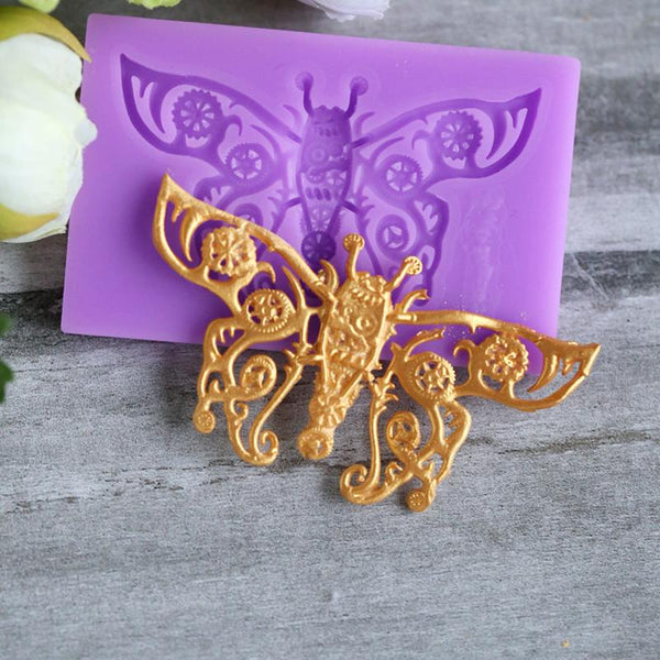 Gear Butterfly Silicone Fondant Mold