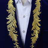 Suede Embroidered Double-breasted Jacket