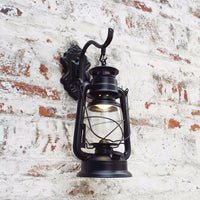 Rustic Antique Style Lantern Wall Lamp - Go Steampunk