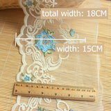 1.5 meters Colored Flower Lace 18cm-blue / 1.5 meters price - Go Steampunk